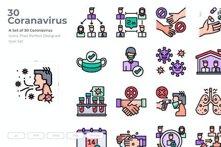 30 Coronavirus-Icons