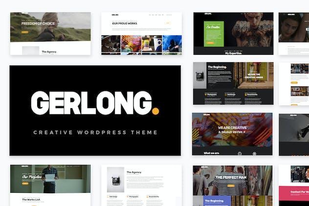Gerlong - Responsive One Page & Multi Page Portfol