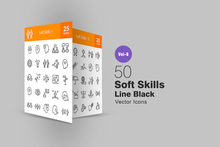Thumbnail for 50 Soft Skills Line Icons