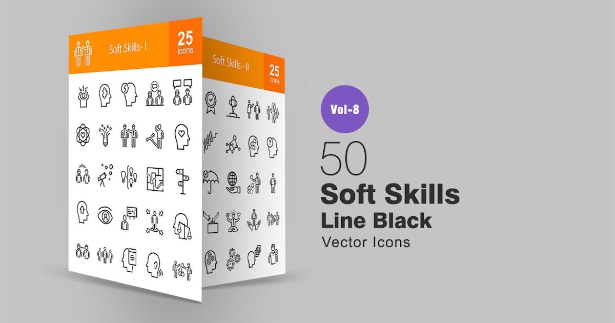 50 Soft Skills Line Icons by IconBunny