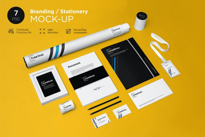 Thumbnail for Branding / Stationery Mock-Up