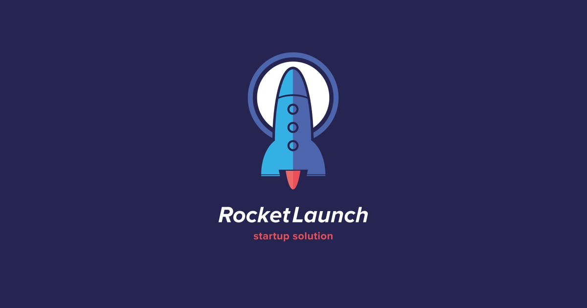 Download Rocket Launch Logo Template by Pixasquare