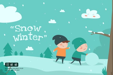 Schnee Winter - IlustrationsVorlage
