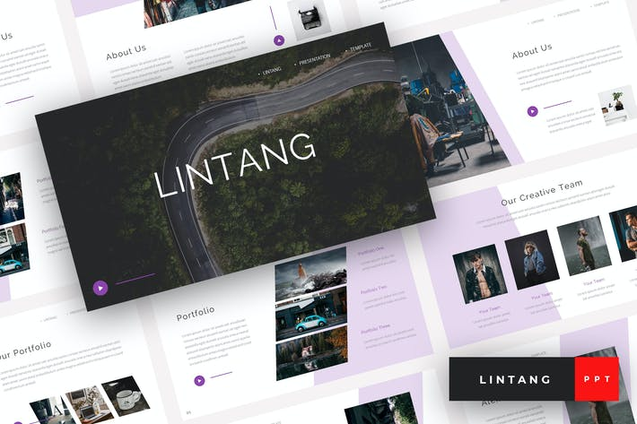 Cover Image For Lintang - Creative PowerPoint Template