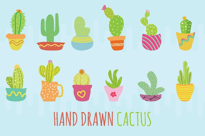 Thumbnail for Cactus Hand Drawn