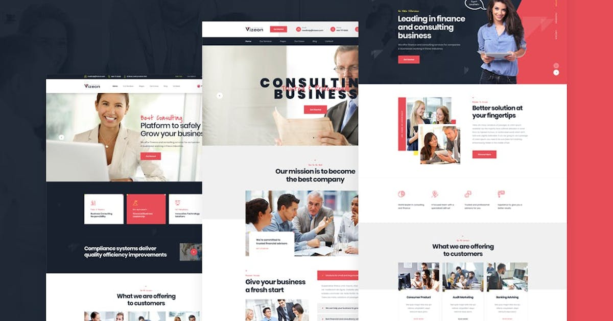 Download Vizeon - Business Consulting HTML Template by Layerdrops