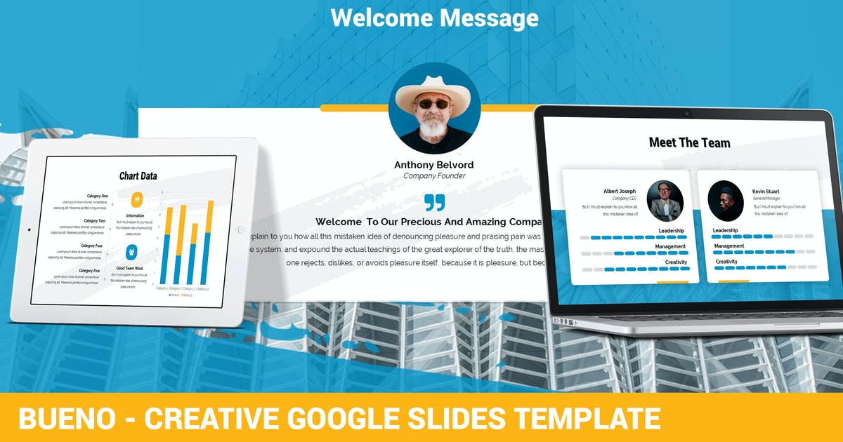Download Bueno - Creative Google Slides Template by SlideFactory