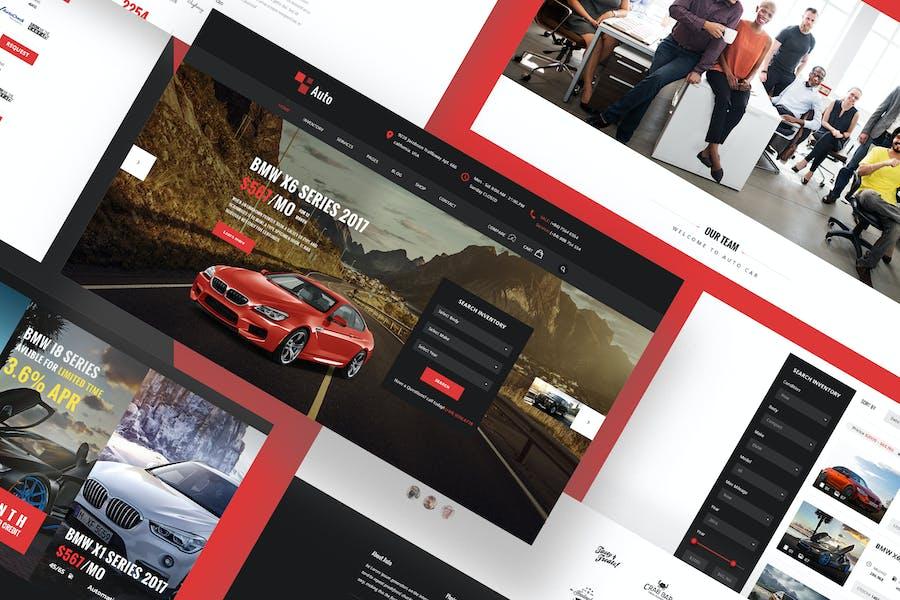 Auto Adobe XD Template