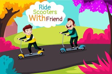 Roller fahren - Abbildung