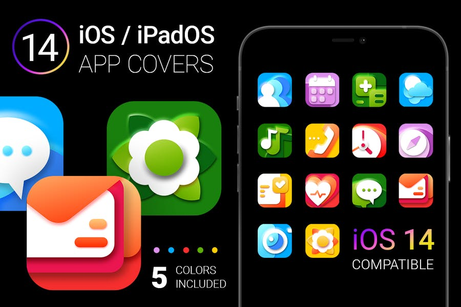 iOS 14 App Icons | bright colors