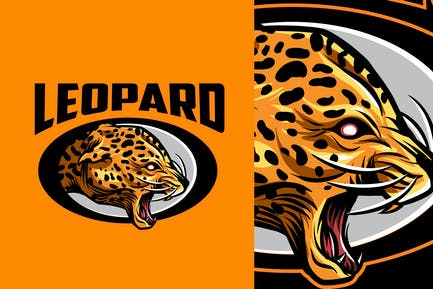 Leopard Mascot Sports and Esports Logo 2.0
