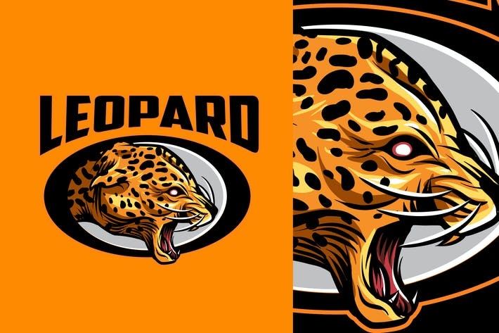 Leopard Mascot Sports and Esports Logo 2.0