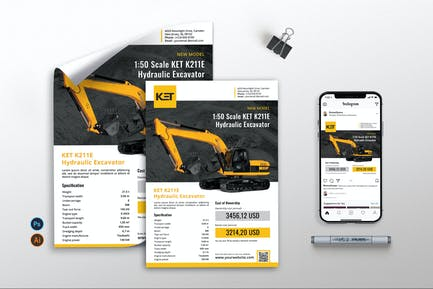 Construction Machinery vol.1 - Flyer RB