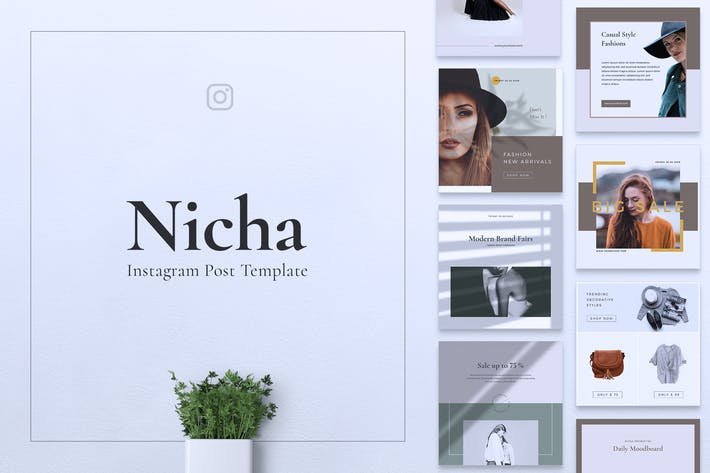 Thumbnail for NICHA Fashion Instagram & Facebook Post