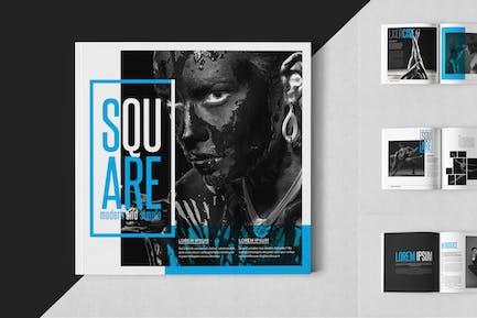 Square Monochrome Magazine Template