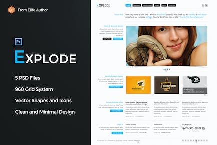 Explode - Old school business PSD Template