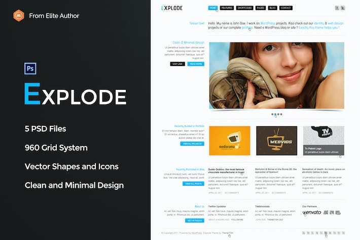 Thumbnail for Explode - Old school business PSD Template