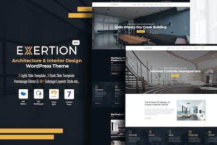 Exertion - Architecture & Intérieur Thème WordPress
