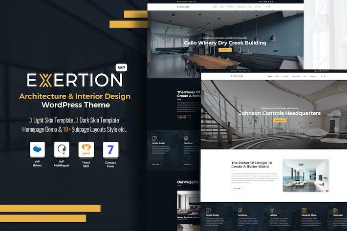 Thumbnail for Exertion - Architecture & Interior WordPress Theme