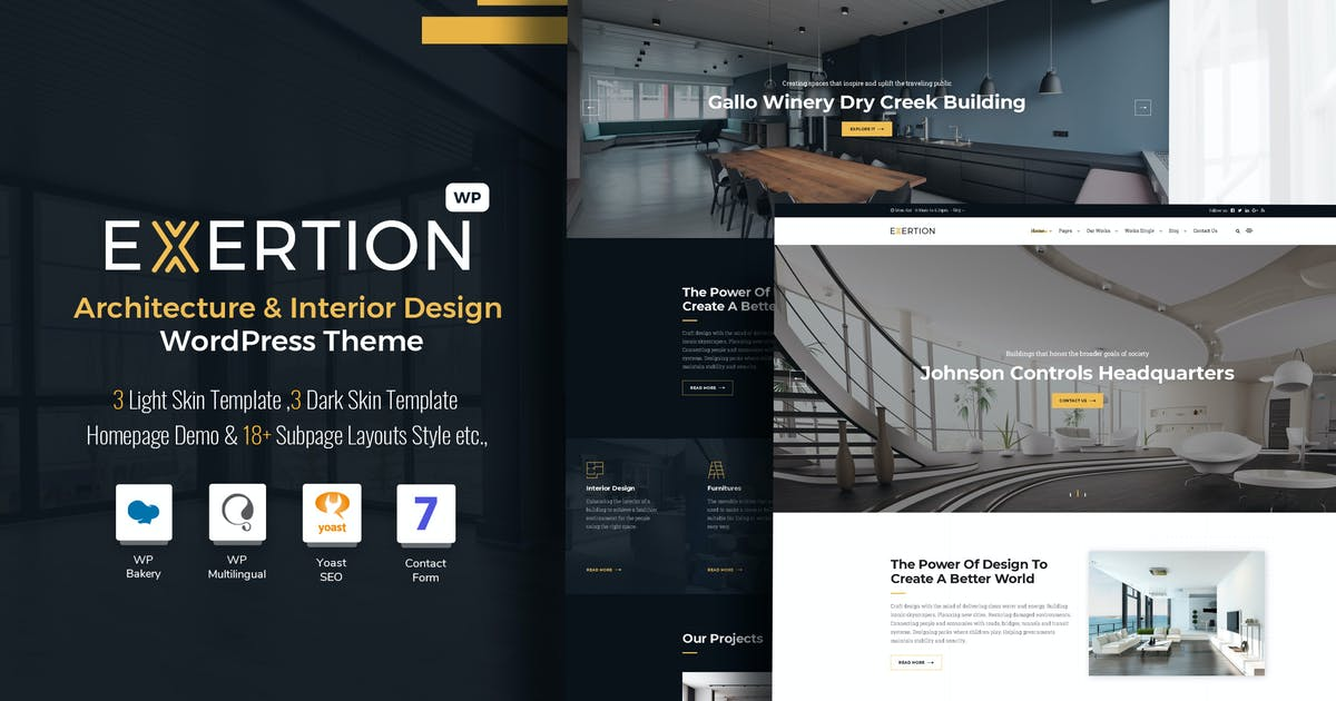 Download Exertion - Architecture & Interior WordPress Theme by VictorThemes