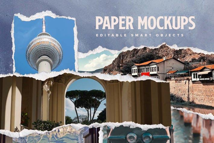 Thumbnail for Torn Paper Mockup Templates