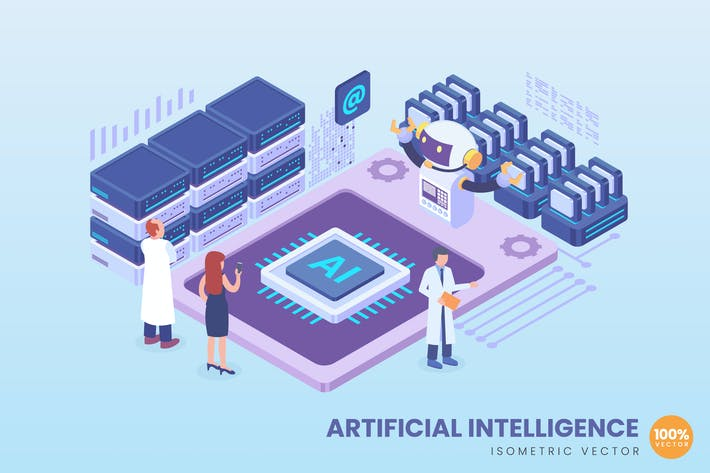 Thumbnail for Isometric Artificial Intelligence Concept