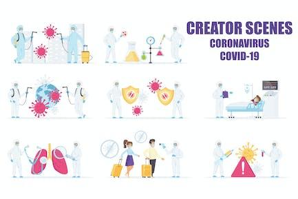 Scene Creator Battle the Coronavirus COVID-19