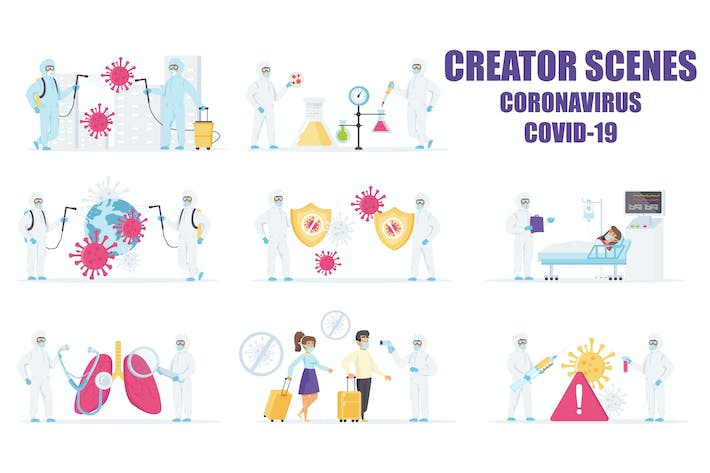 Scene Creator Battle the Coronavirus COVID-19