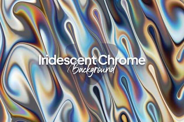Iridescent Chrome Background
