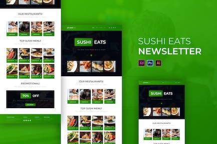 Sushi Eats | Newsletter Template