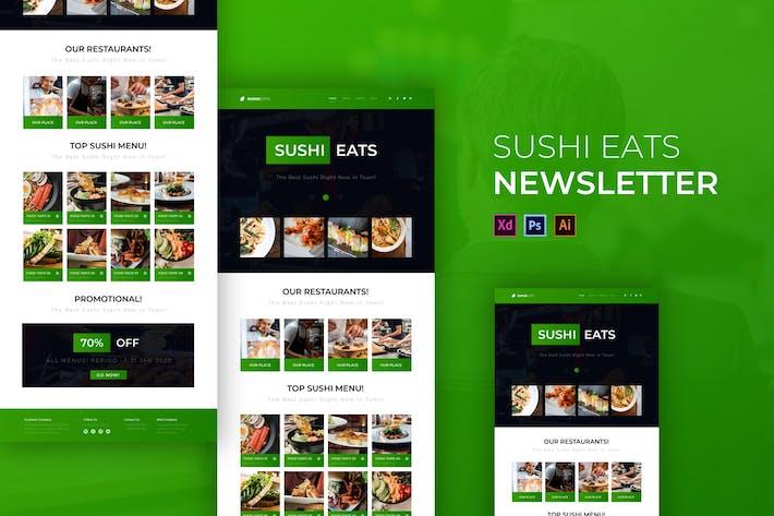 Sushi Eats | Modèle Newsletter