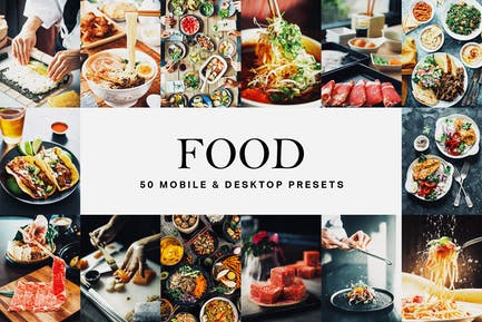 50 Food Lightroom Presets and LUTs