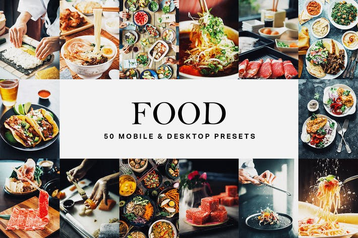 Thumbnail for 50 Food Lightroom Presets and LUTs