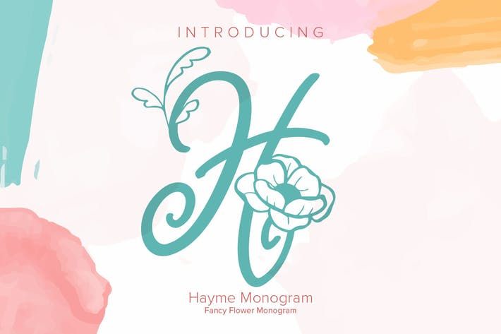 Thumbnail for Hayme Monogram Font