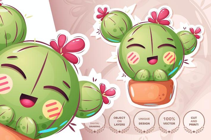 Thumbnail for Niedlicher Kaktus - nahtloses Muster