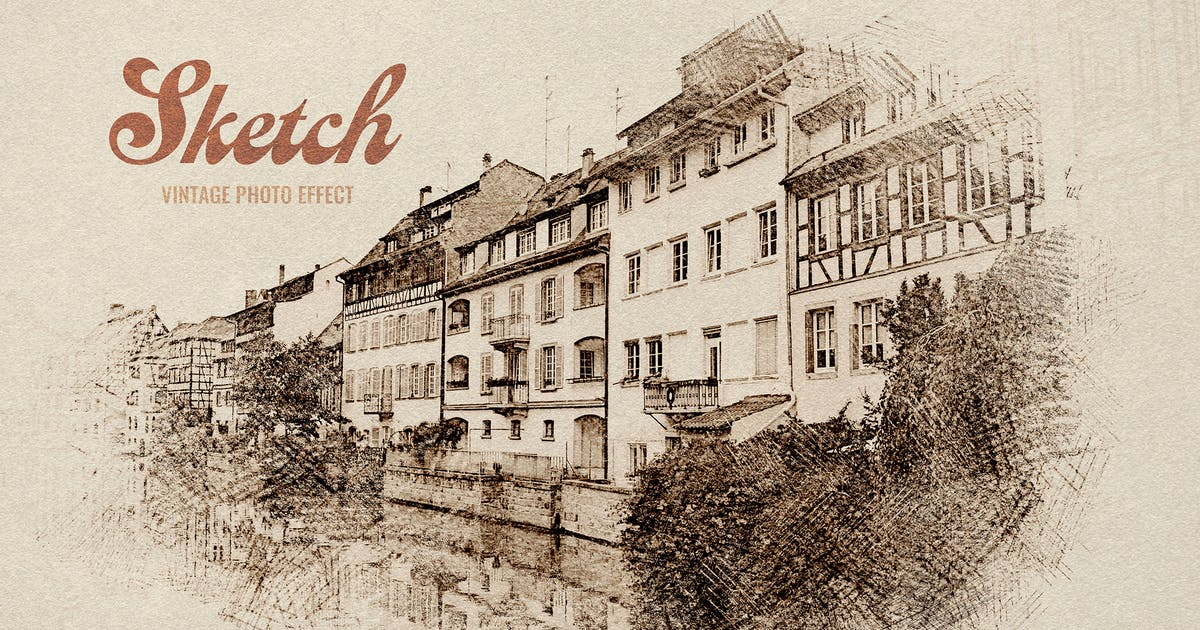 Download Vintage Sketch Photo Effect by pixelbuddha_graphic
