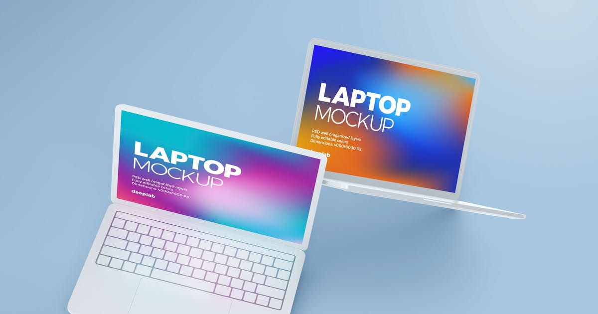 Download Macbook Pro Clay Mockup by deeplabstudio