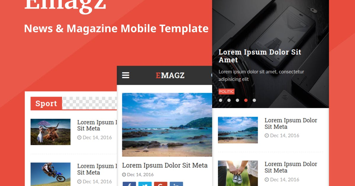 Download Emagz - News & Magazine Mobile Template by Ngetemplates