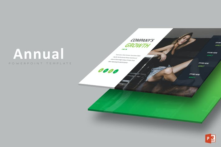 Cover Image For Annual Business - Powerpoint Template