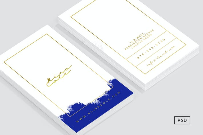 Thumbnail for Elegant Painted Business Card