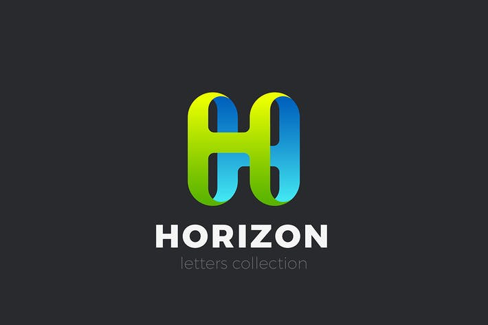 Thumbnail for Letter H Logo design 3D Ribbon style