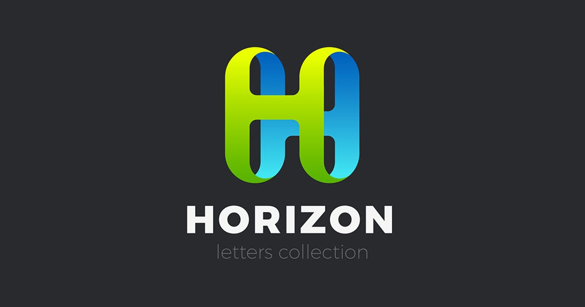 Download Letter H Logo design 3D Ribbon style by Sentavio