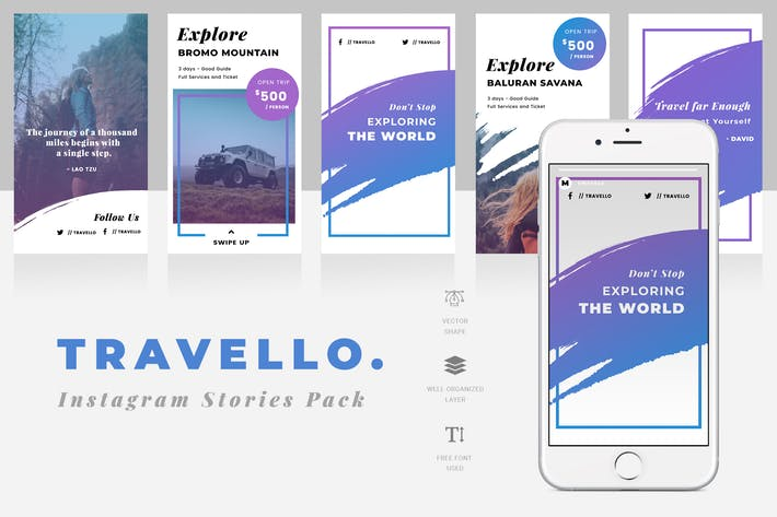 Cover Image For Travel Instagram Story Template
