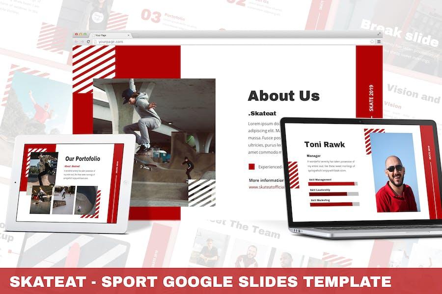 Skateat - Sport Google Slides Template