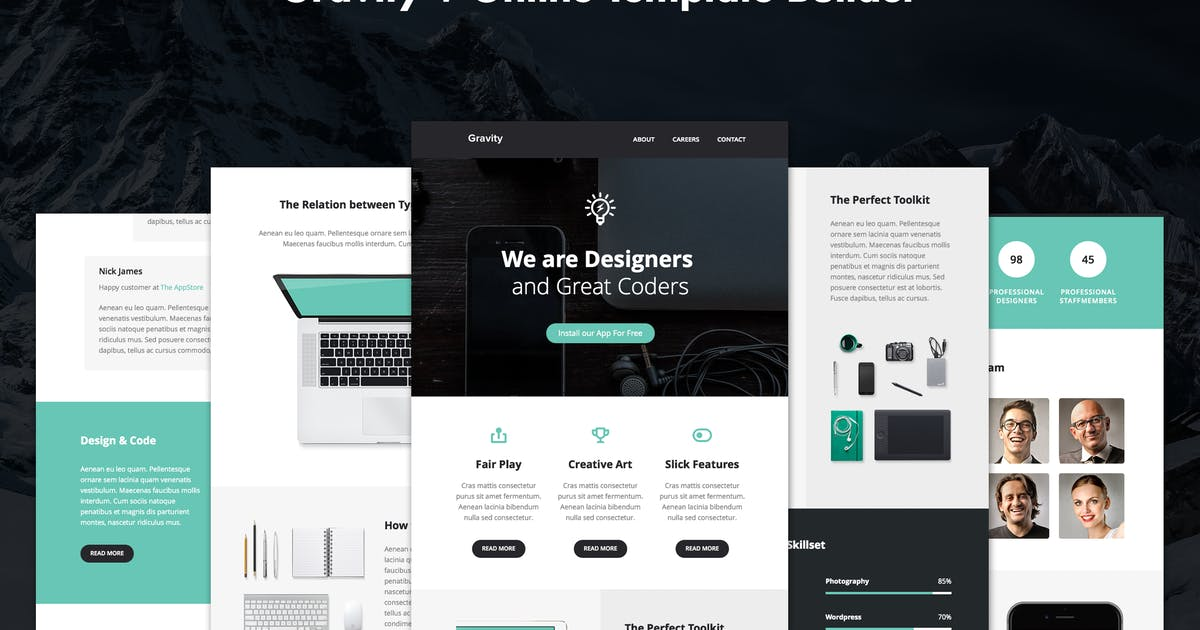 Download Gravity - Responsive Creative Email + Builder by Unknow