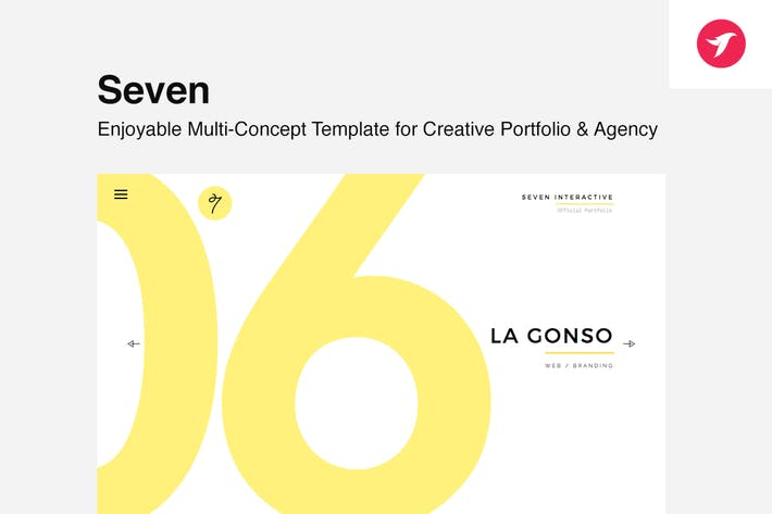 Cover Image For Seven - Portfolio Template for Creatives & Agency