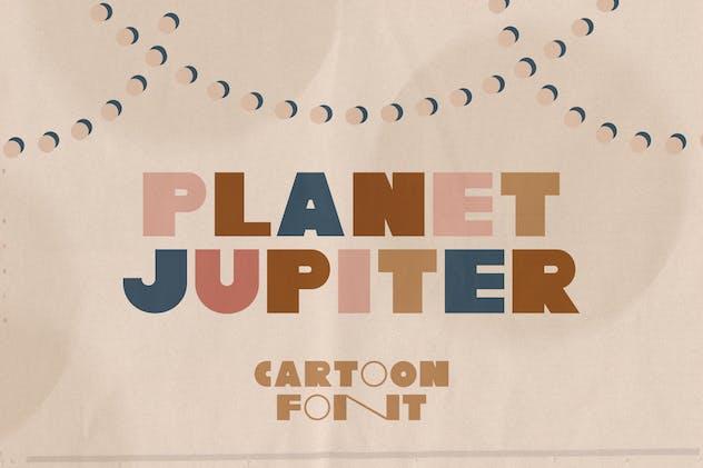 Planet Jupiter Typeface