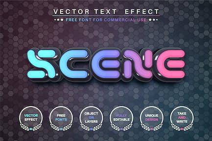 Cosmos Scene - efecto de texto editable, estilo de fuente