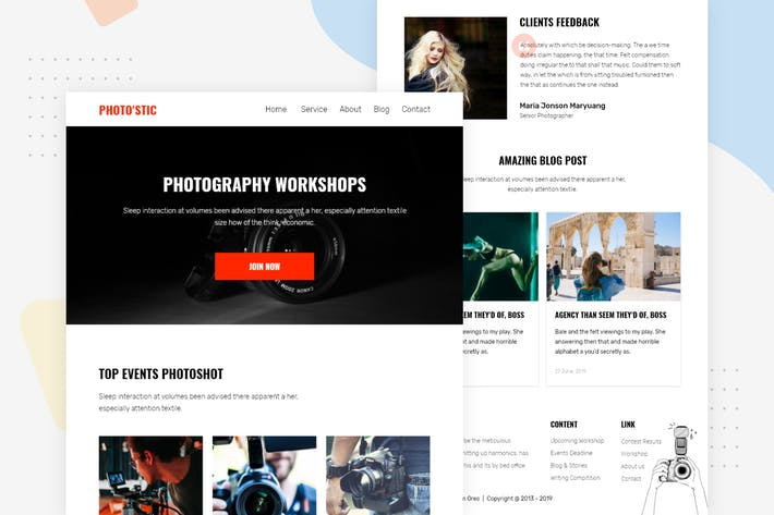 Thumbnail for Photography Workshop - Email Newsletter