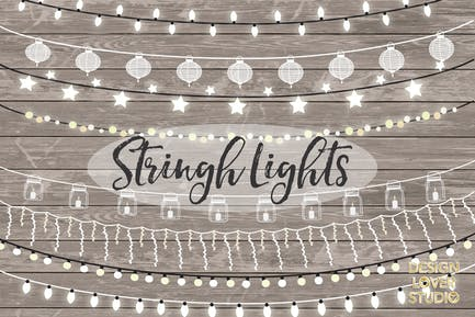 Vector lights clipart, String Lights Clipart